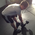 GH2 on gorillapod, taped to kettlebell